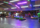 There was a merry go round and next to it, these bumper cars