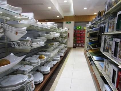 If you are looking for every possible white dish and bowl, this is your place
