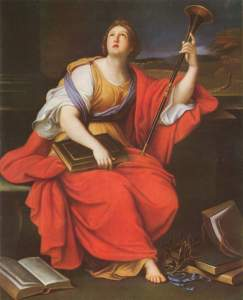 Pierre Mignard, Clio (1689). Image Courtesy Wikimedia Commons.