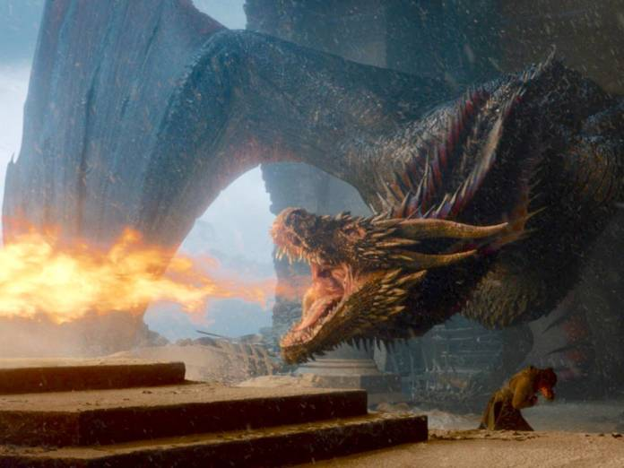 DROGON DESTROYING THE THRONE