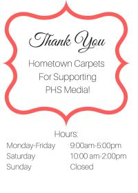Thank You to Hometown Carpets! | PHS MEDIA NEWS