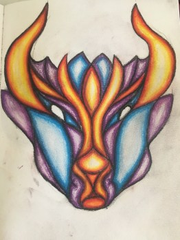 From Taurus to Aries - Original artwork by CL Wake