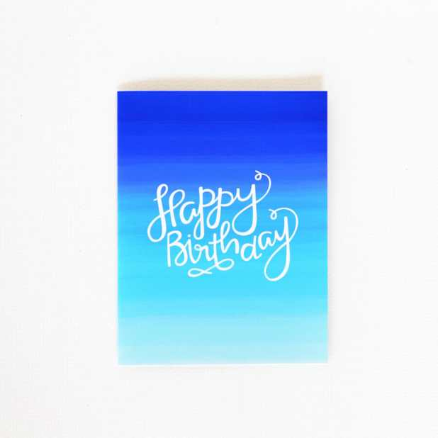 Ombre Blue - Birthday Card