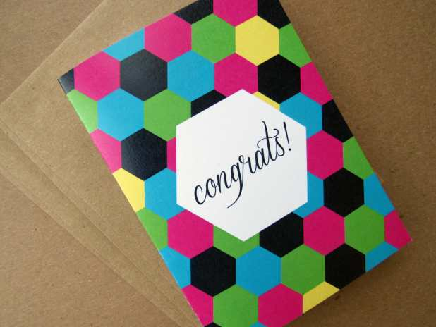 Congrats Folded Card