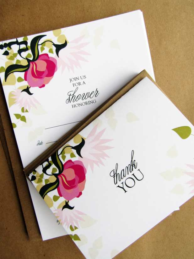 Fill-In Shower Invite & Folded Thank You