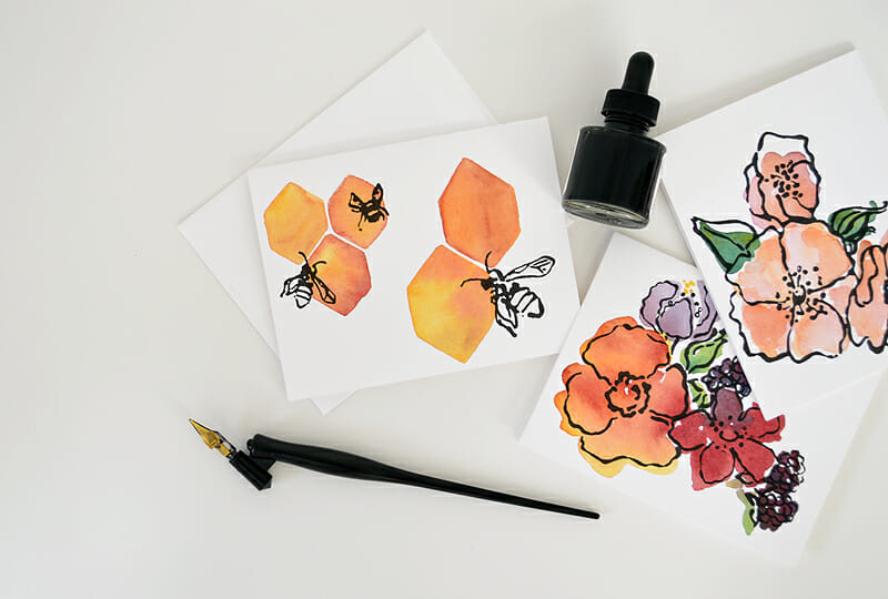 courtney khail watercolors stationery2