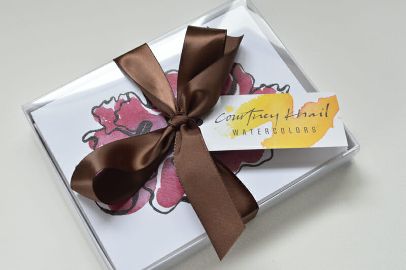 peony note card packaging_ courtney khail
