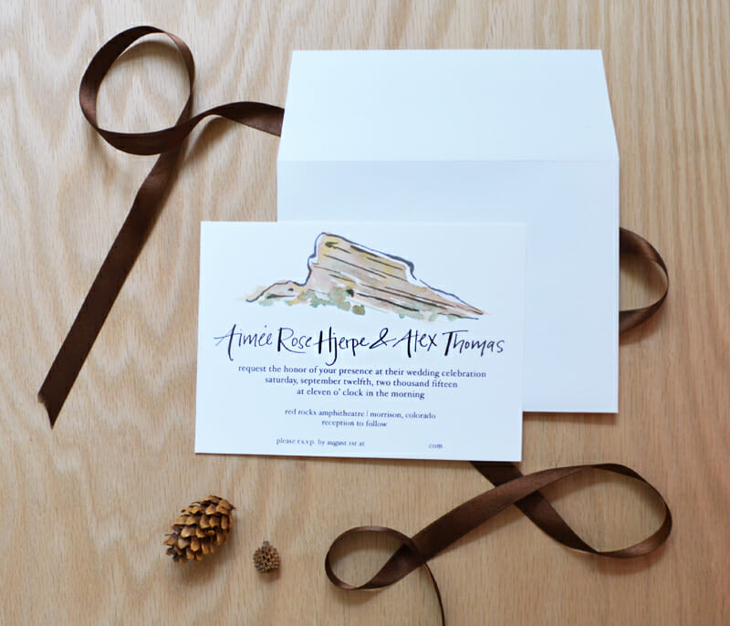 red rocks colorado wedding invitation_courtney khail