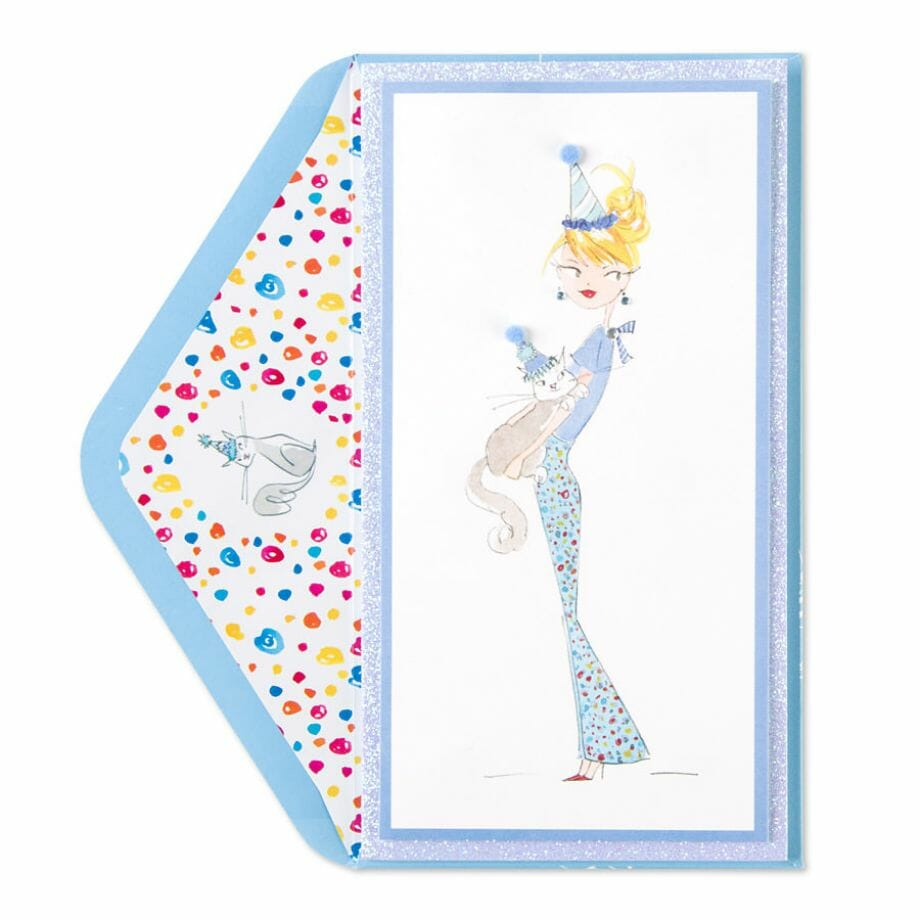 Taylor swift papyrus stationery love the paper chronicles taylor swift girl with cat card m4hsunfo