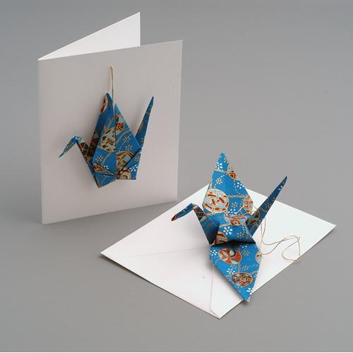 Crane CardOrnament The Paper Crane Origami