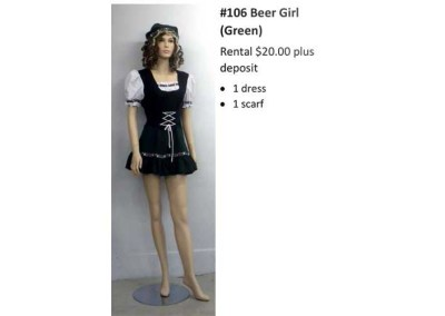 106 Beer Girl (Green)