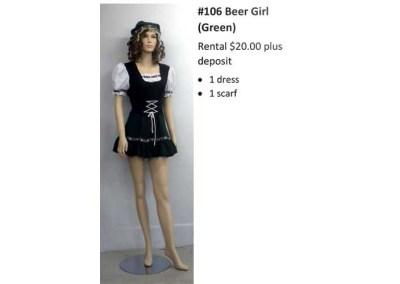106 Beer Girl (Green)