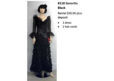 118 Senorita (black)