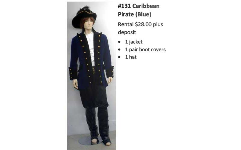 131 Caribbean Pirate (blue)
