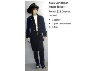 131 Caribbean Pirate (blue)
