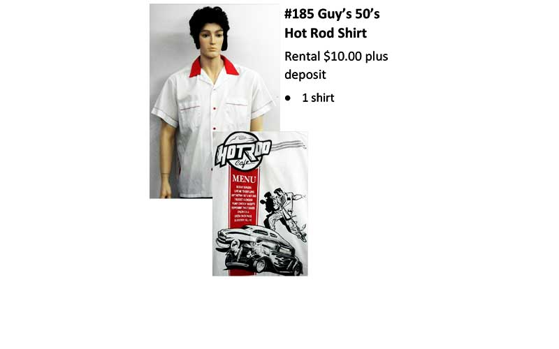 185 Guy's 50's Hot Rod Shirt