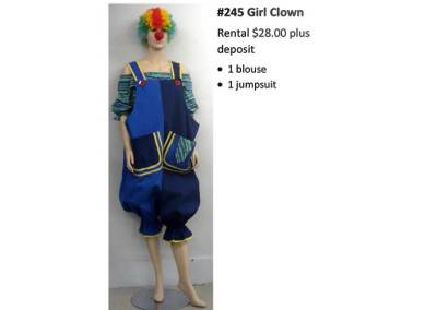 2445 Girl Clown