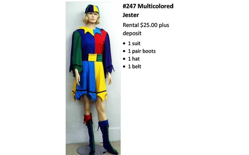 247 Multicocored Jester