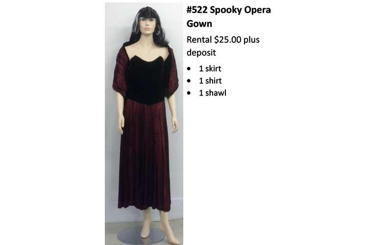 522 Spooky Opera Gown