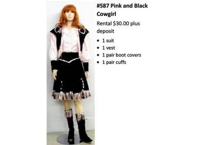 587 Pink & Black Cowgirl
