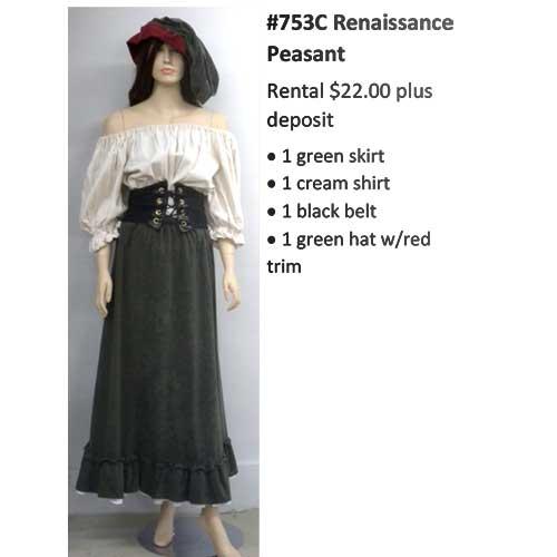 753C Renaissance Peasant