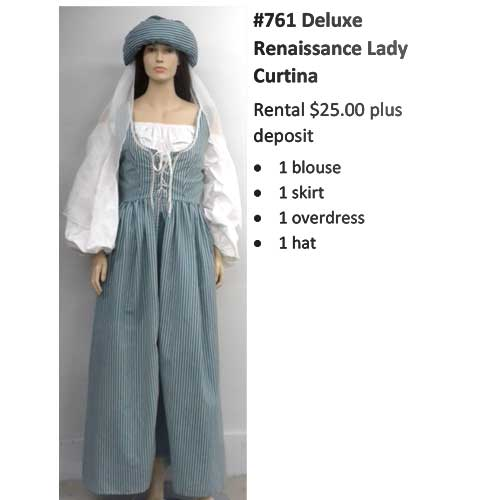 761 Deluxe Renaissance Lady Curtina