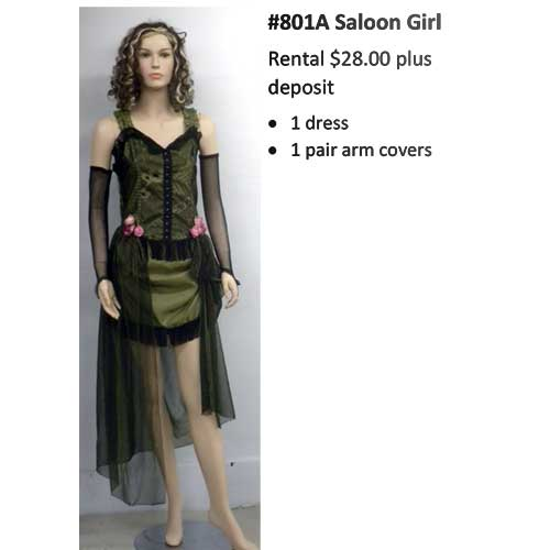 801A Saloon Girl