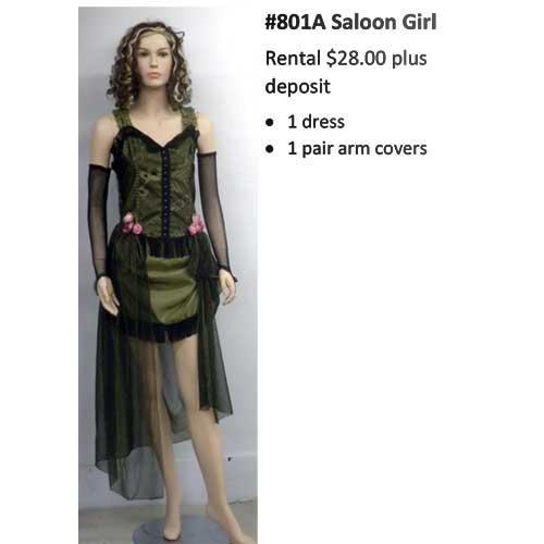 801A Saloon Girl