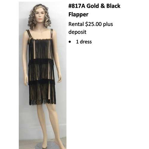 817 Gold & Black Flapper
