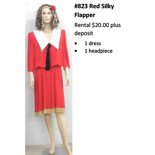 823 Red Silky Flapper