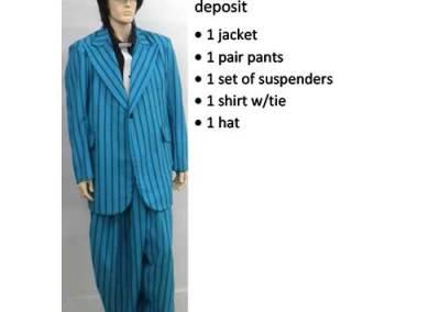 836B Blue Zoot Suit