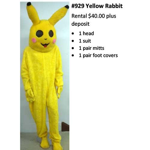 929 Yellow Rabbit