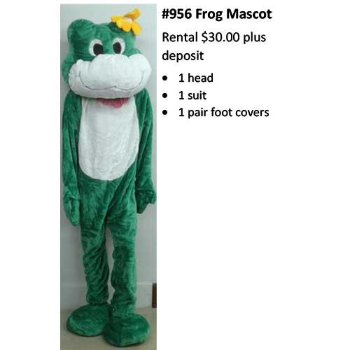 956 Frog Mascot