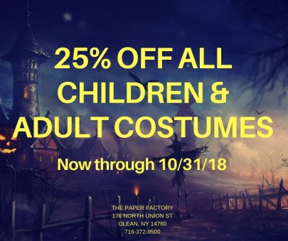 25% off Costumes
