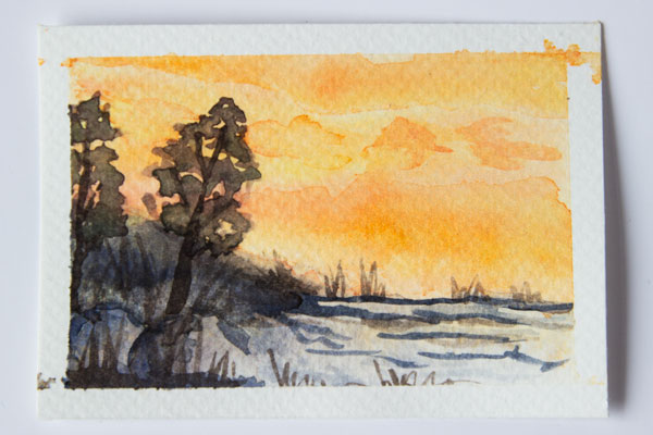 landscape watercolour painting