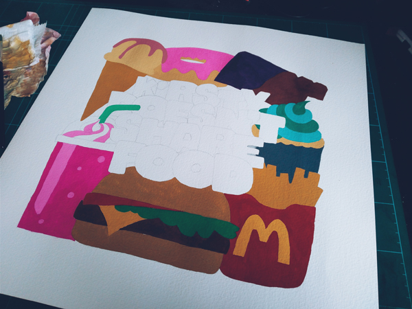 illustration at full scale in colour