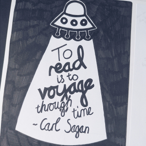 typographic poster featuring carl sagan quote