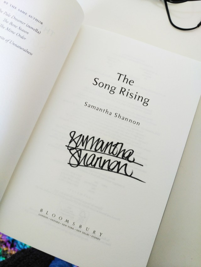 book blogger photo of The Song Rising