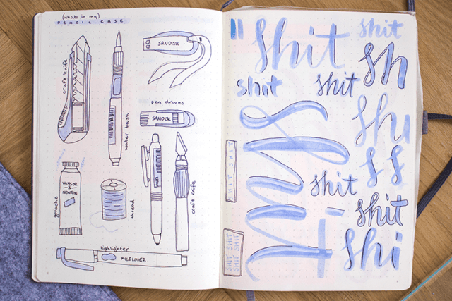 my favourite notebook leuchtturm1917 page also swear words