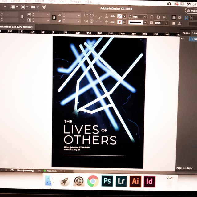 lives of others poster shown on computer screen