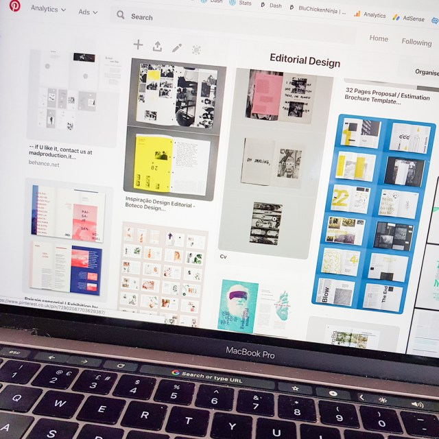 image shows pinterest board displayed on computer screen