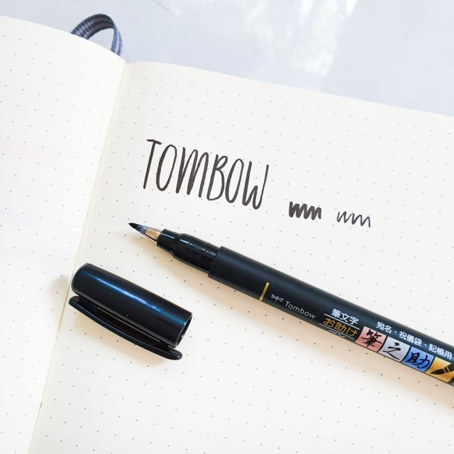 Tombow Fudenosuke brush pen.
