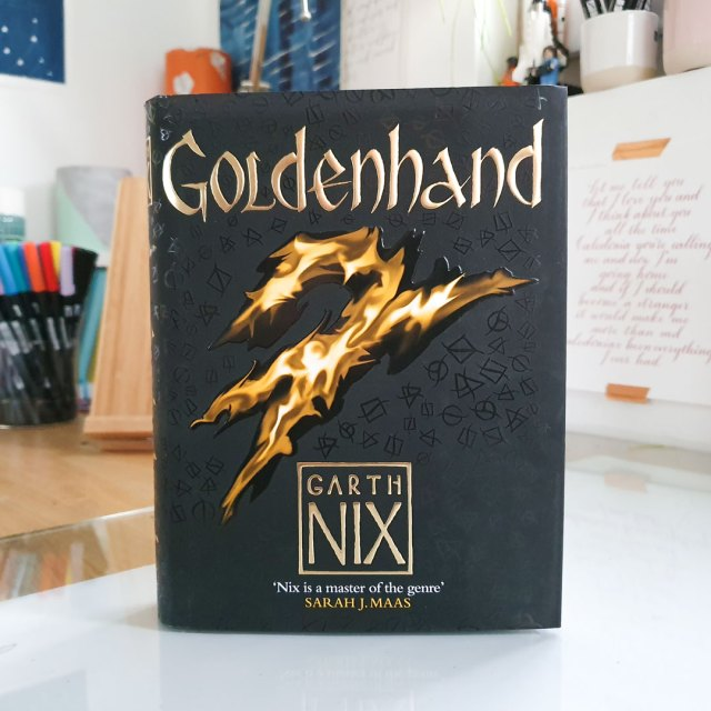 Cover of Goldenhand by Garth Nix.