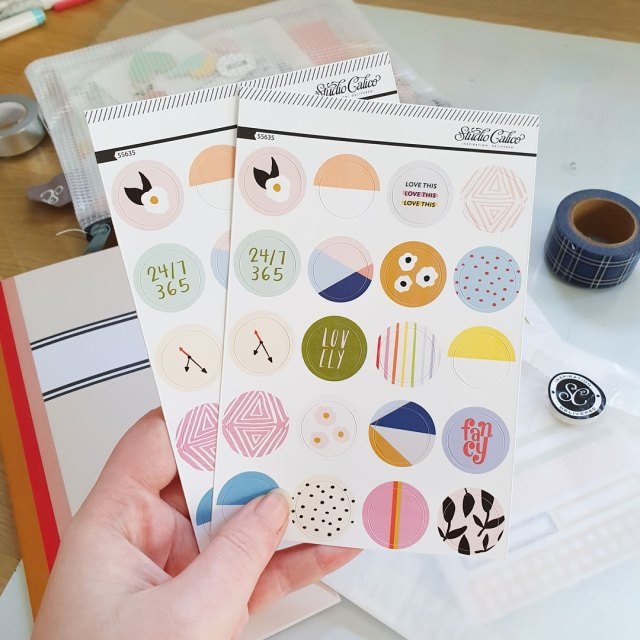 Stickers from Studio Calico subscription.