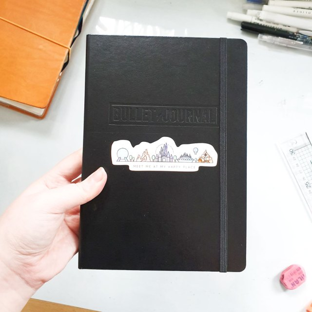 Image shows the cover of the official Leuchttturm1917 Bullet Journal notebook which is part of my planner set up.