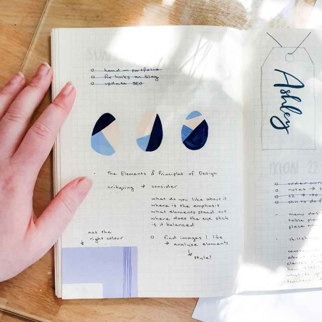Ways of how to fix mistakes in your bullet journal, including ways to hide them.