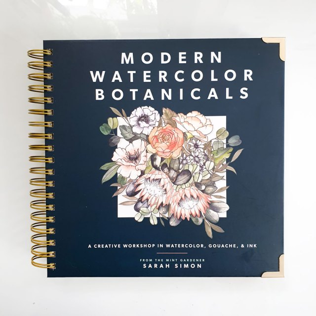 Cover of modern watercolour botanicals.
