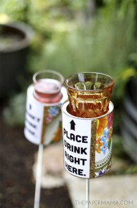 Outdoor Drink Holder DIY - With Free Printable