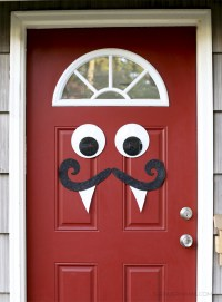 Mustache and Googly Eyes Door Decor
