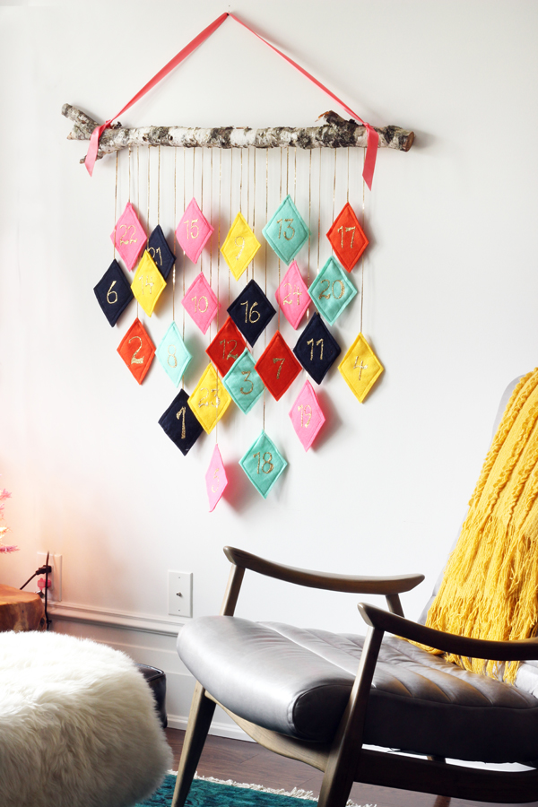 Modern Diamond Pockets Advent Calendar | The Sweet Escape